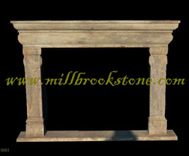 mantles hand carved antique limestone