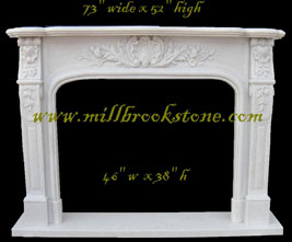 mantles hand carved limestone