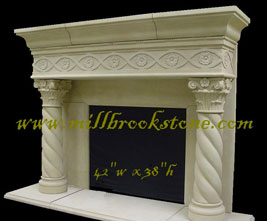 mbs mantle designs cast limestone