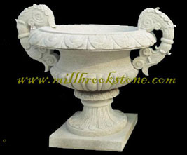 planters and urns hand carved antique limestone 1